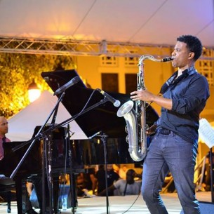 David Sanchez plays in Puerto Plata, photo courtesy Dominican Republic Jazz Festival